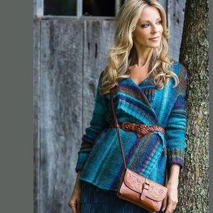 New Patricia Nash Torri Leather crossbody Bag